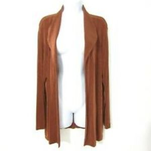 "CHICO""S Travelers Classic Copper Drape Jacket M"